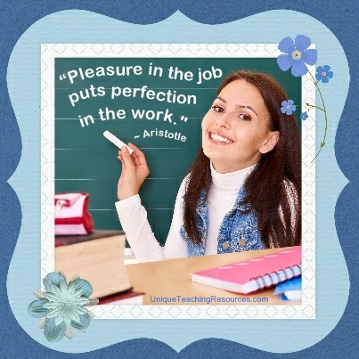 Quotes About Teaching - Pleasure in the job puts perfection in the work. Aristotle