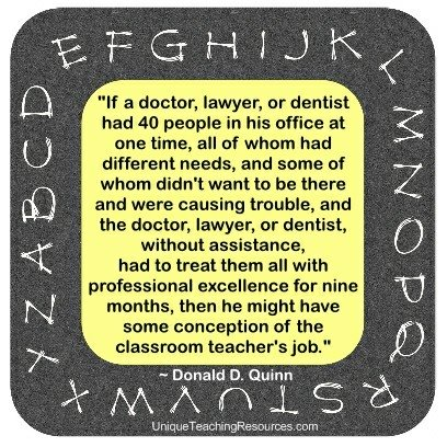 Quotes About Teachers by Donald D. Quinn