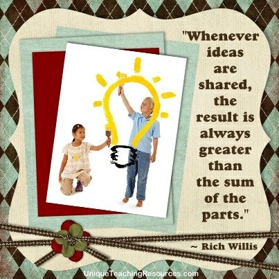 Quotes About Education - Whenever ideas are shared, the result is always greater than the sum of the parts. Rich Willis