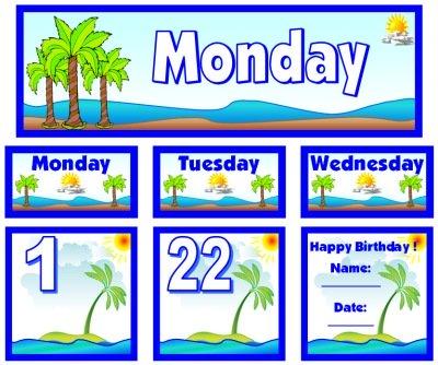 June Calendar Set for Pocket Charts