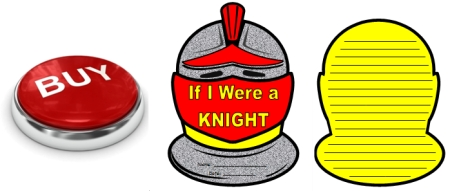 Knight Helmet Creative Writing Templates For Castle and Middle Ages Themes