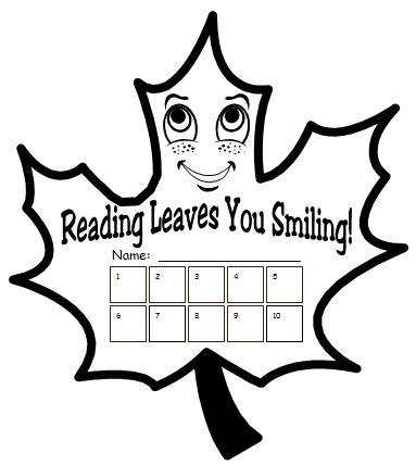 Thanksgiving and Fall Reading Sticker and Incentive Charts
