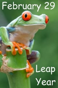 Leap Year February 29 Frog