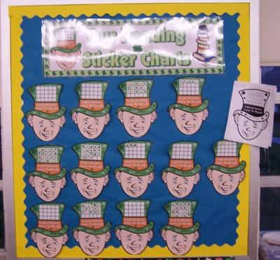 St. Patrick's Day Leprechaun Reading Sticker Charts