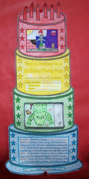 Elementary Students Main Character Birthday Cake Party Book Report Projects Example