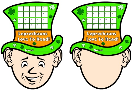 Sticker Charts:  Leprechaun St. Patrick's Day Reading Sticker Chart Templates