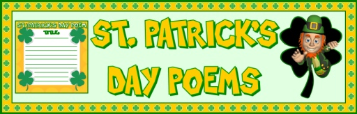 St. Patrick's Day Poetry Bulletin Board Display Banner