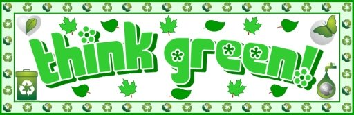 Think Green  Recycling Bulletin Board Display Banner