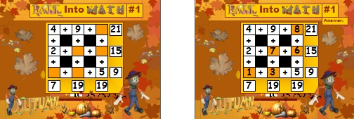 Fun Powerpoint Lesson Plans for Math Fall and Autumn Activities
