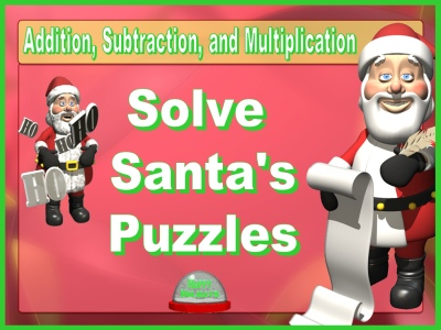 Fun Math Puzzles Christmas Powerpoint Lesson Plans