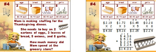 Math Word Problems Powerpoint Presentation for Teacher for Thanksgiving