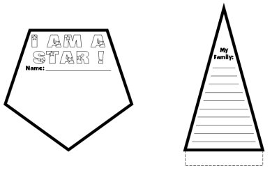 Star Writing Templates Fun Back To School Actitity Lesson
