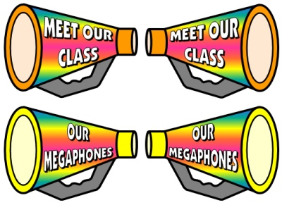 Megaphone Classroom Decorations