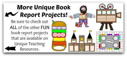 View more fun, unique, and extra large book report projects.