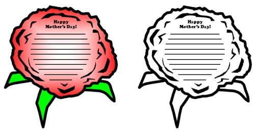 Mother's Day Card Lesson Activity Flower Templates