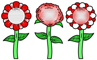 Mother's Day Flower Templates and Card Activity