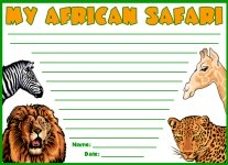 African Safari Creative Writing Printable Worksheets