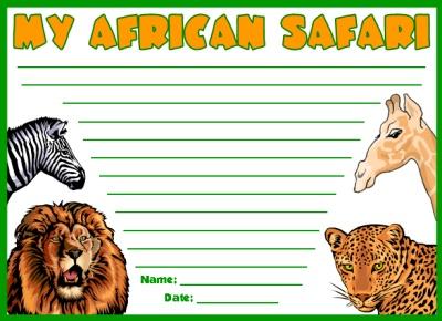 My African Safari Printable Worksheets