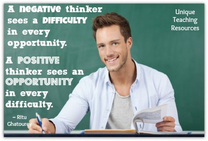 Negative and Positive Thinkers Quote