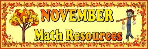 November and Thanksgiving Math Teaching Resources