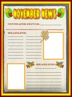 Fall Newspaper November Writing Prompts Printable Worksheet