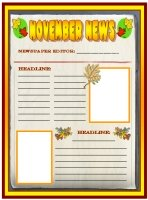 November Fall Newspaper Creative Writing Templates and Lesson Plans