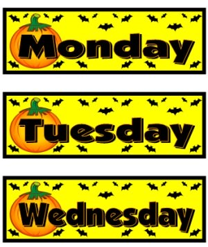 Halloween and October Printable Worksheets Calendar