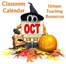 October Classroom Calendar For Elementary School Teachers