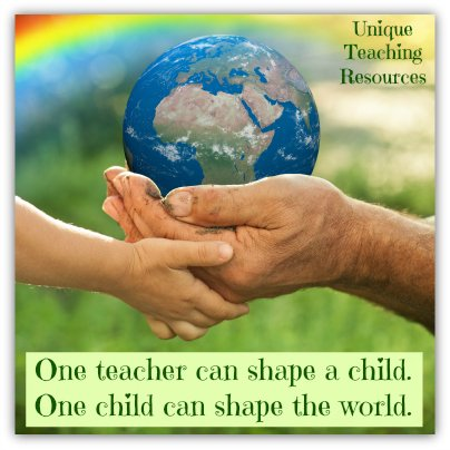 Quote About Students - One teacher can shape a child. One child can shape the world.