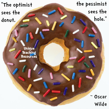 Optimist and Pessimist Donut Quote by Oscar Wilde