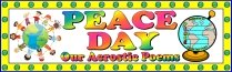 Peace Day Acrostic Poem Bulletin Board Display Banner