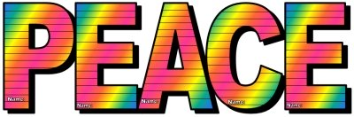 Peace Day Rainbow Letter Templates