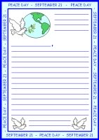 Peace Day Letter To President Stationery and Worksheets