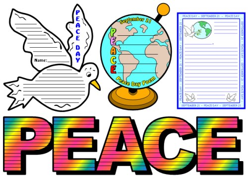 Peace Day Examples and Ideas for Projects for Elementary School Students