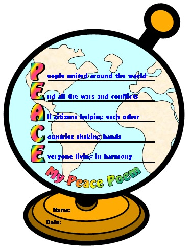 Peace Poem Teaching Resources for Elementary School Students