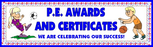 PE Awards and Certificates for Elementary School Students