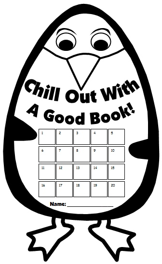 Winter Penguin Reading Sticker and Incentive Charts for Elementary School Students