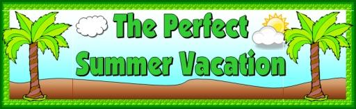 Summer Vacation Bulletin Board Display Banner Printable Worksheets