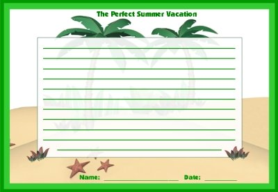 The Perfect Summer Vacation Printable Worksheets