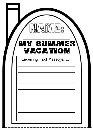 My Summer Vacation Cell Phone Project Templates Top