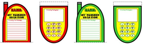My Summer Vacation Fun Cell Phone Project Templates