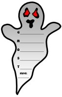 Halloween Ghost Acrostic Poem Templates