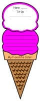 My Favorite Color Poems Ice Cream Templates