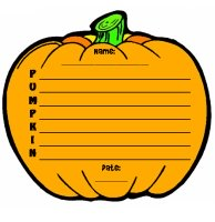 Halloween Pumpkin Poetry and Poem Templates