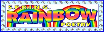 Spring Rainbow Poems Bulletin Board Display Banner