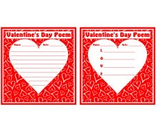 Valentine's Day Poems and Poetry Worksheets