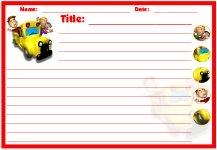 Back To School Creative Writing Bus Stationery Set