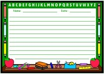 Chalkboard Printable Worksheets for Language Arts