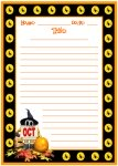 Halloween October Creative Writing Printable Worksheets for Language Arts