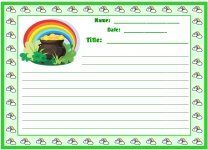 St. Patrick's Day Leprechaun Pot of Gold Printable Worksheets for Language Arts